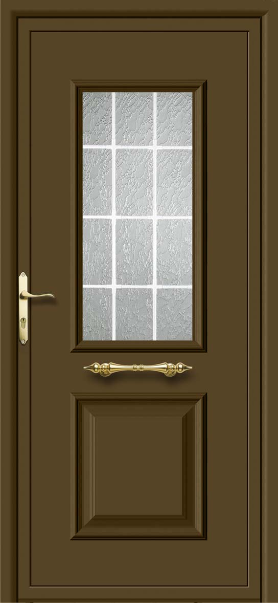 Korsa 1 vidrio barrotillo blanco